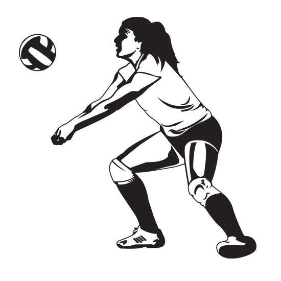 Volleyball clipart volleyball hitter. Each team tries to