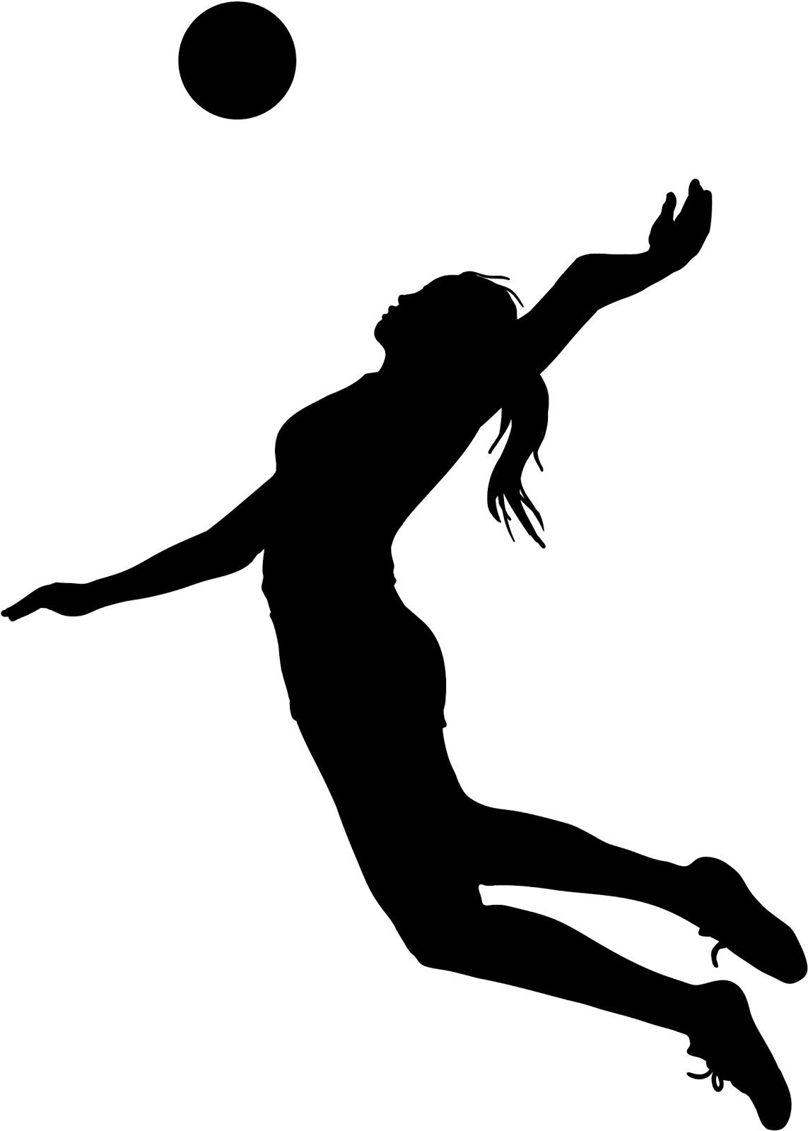 Volleyball clipart volleyball hitter. Silhouette at getdrawings com
