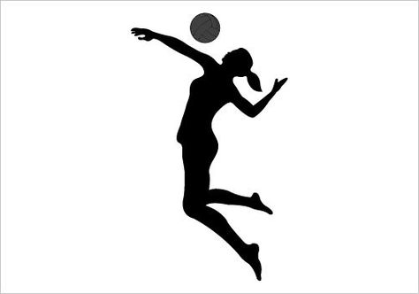 Silhouette at getdrawings com. Volleyball clipart volleyball hitter clipart free