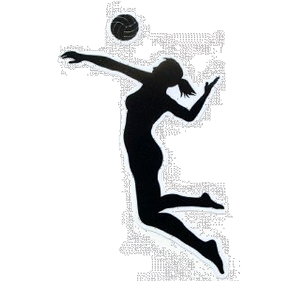 Hit png transparent images. Volleyball clipart volleyball hitter image black and white stock