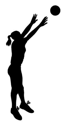 Silhouette at getdrawings com. Volleyball clipart volleyball hitter vector library download