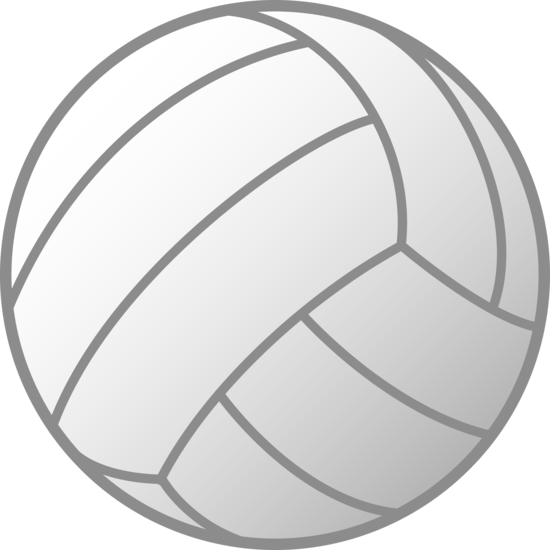 White drawing volleyball