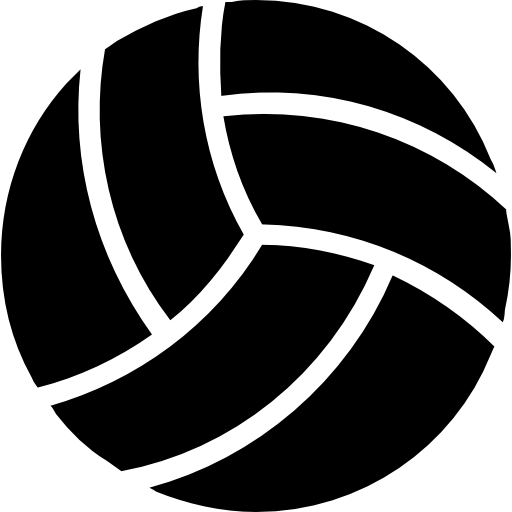 Volleyball icon png. Black ball free sports