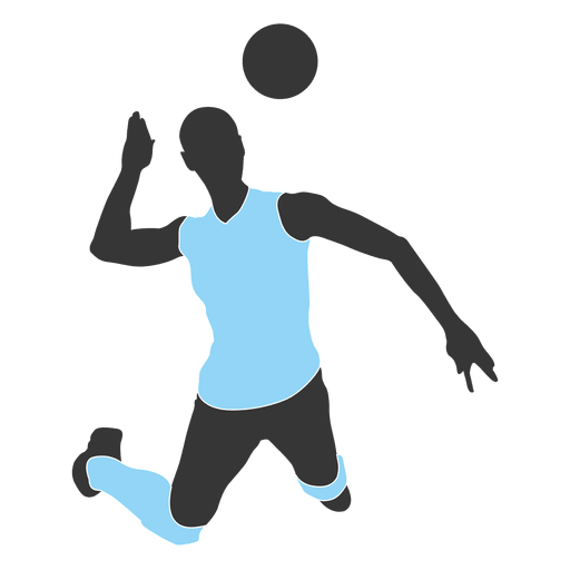Volleyball vector png. Male player transparent svg