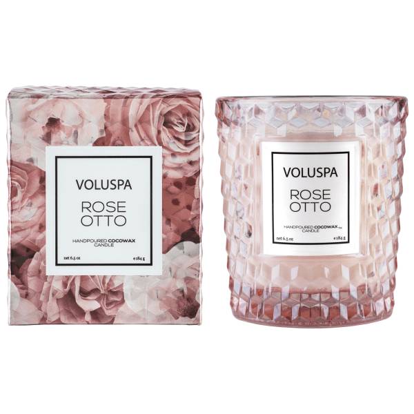 Voluspa candles png. Rose otto classic in