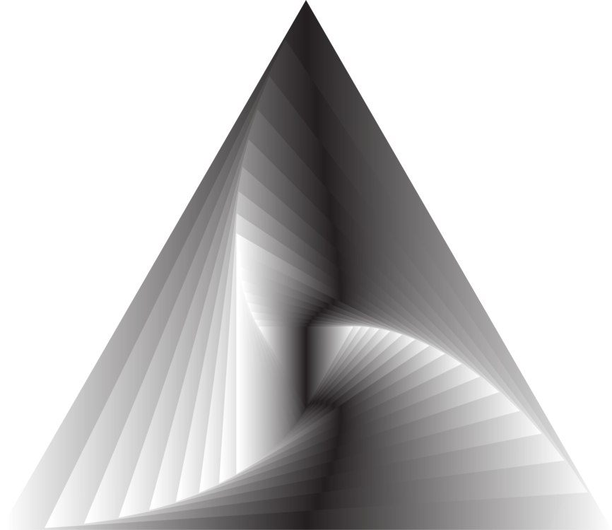 Vortex drawing triangle. Computer icons line art