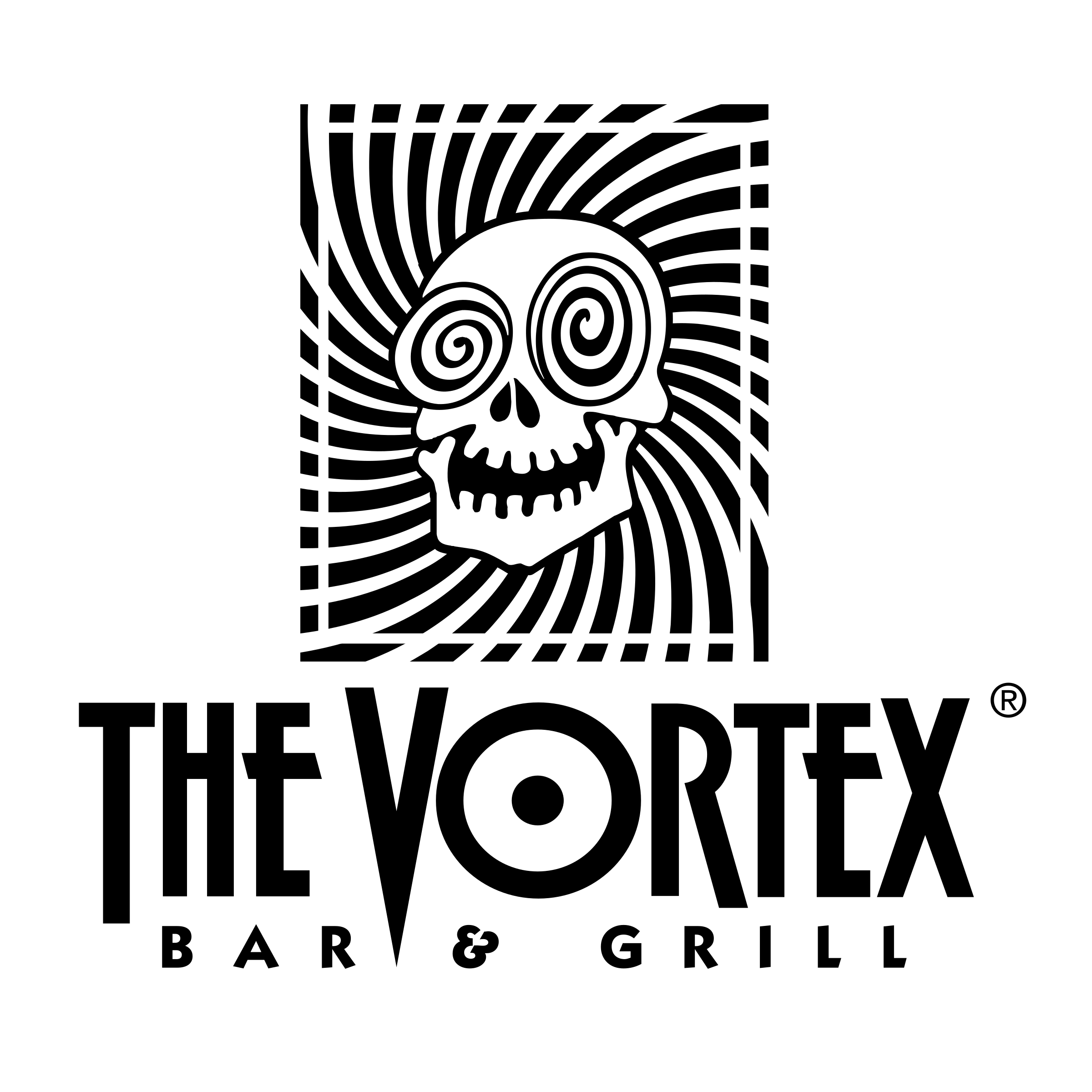 Vortex vector black and white. The logo png transparent