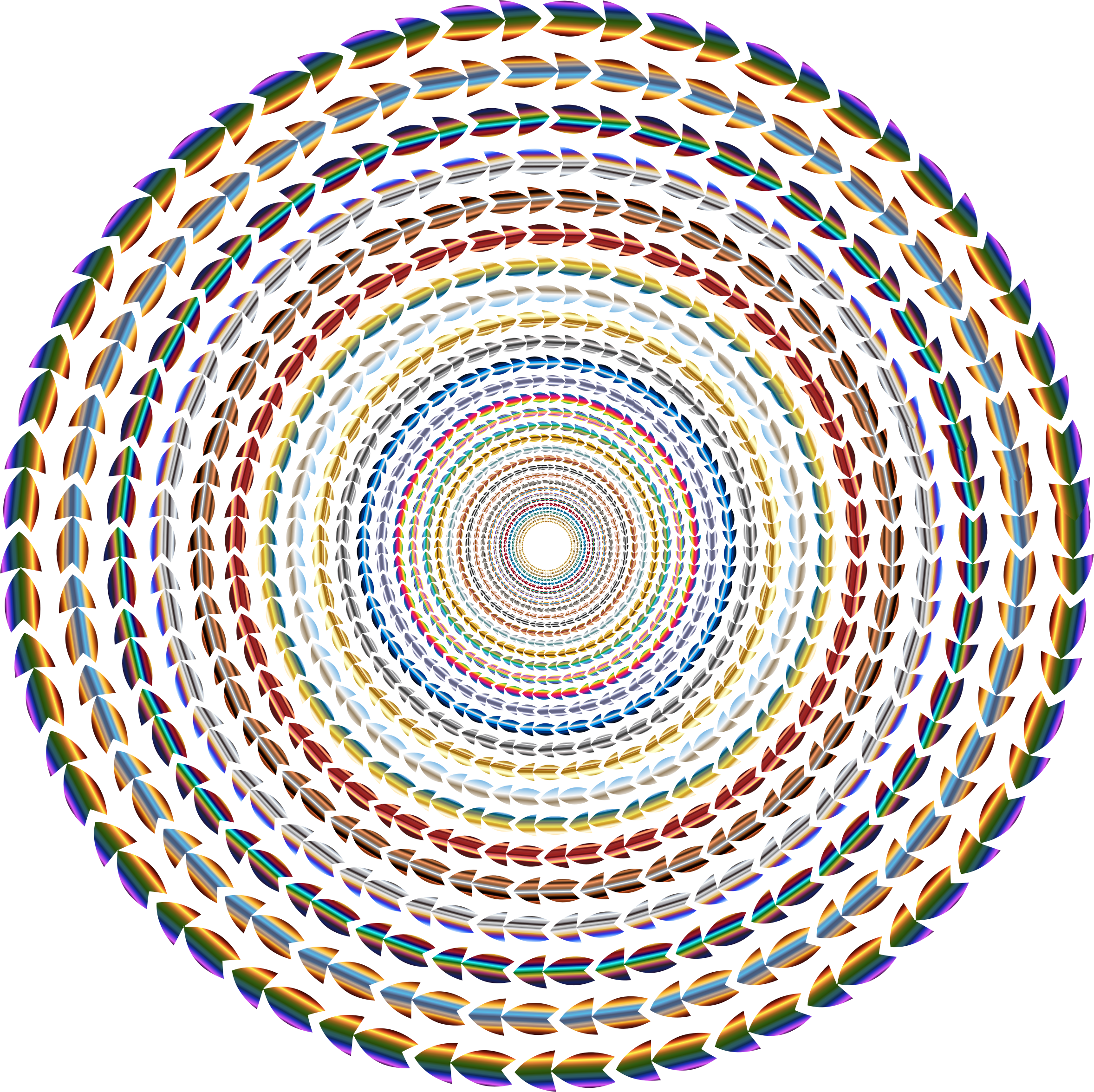 Vortex vector circle. Polychromatic colorful direction no