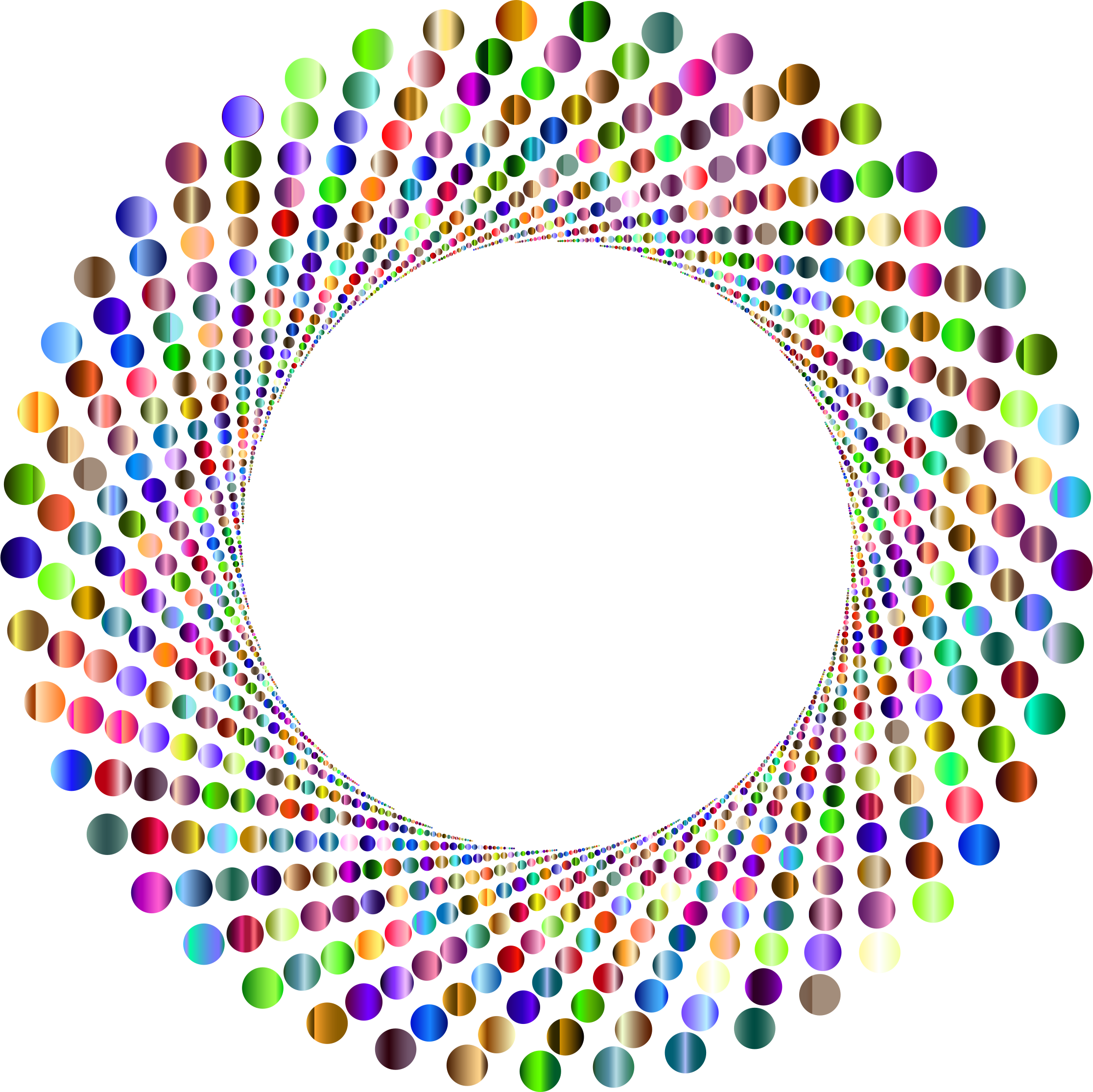 Vortex vector round logo design. Clipart colorful circles shutter