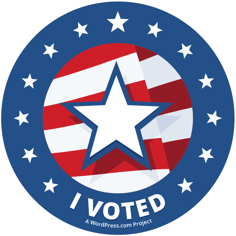 I voted sticker png
