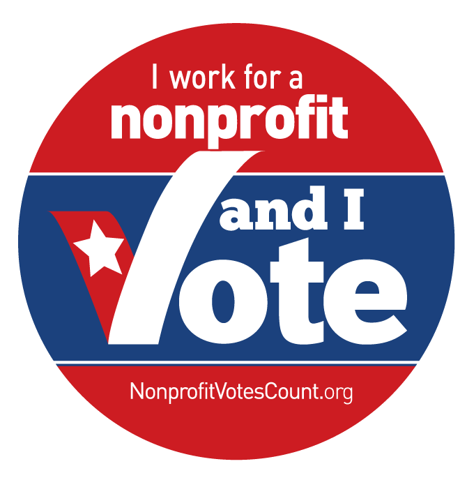 Vote button png. Election swag for nonprofits