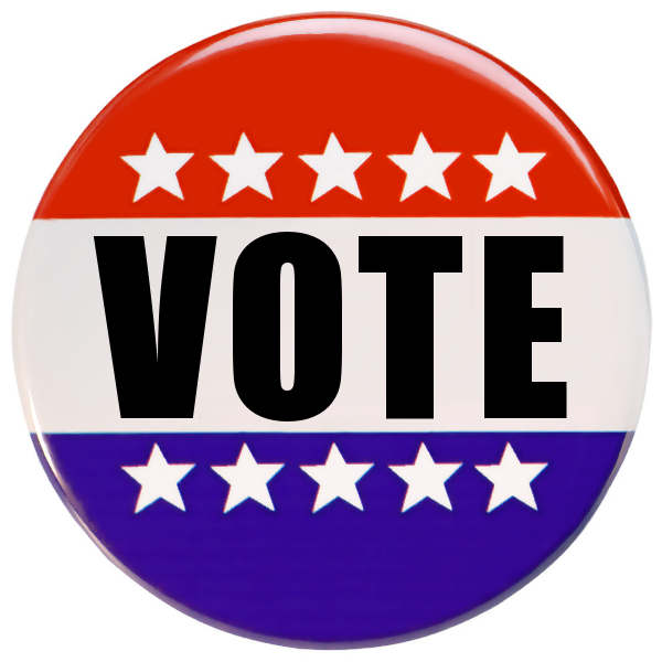 Vote button png. Large holiday election day