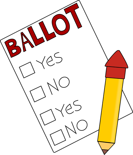 Voting drawing ballot. Clip art images and