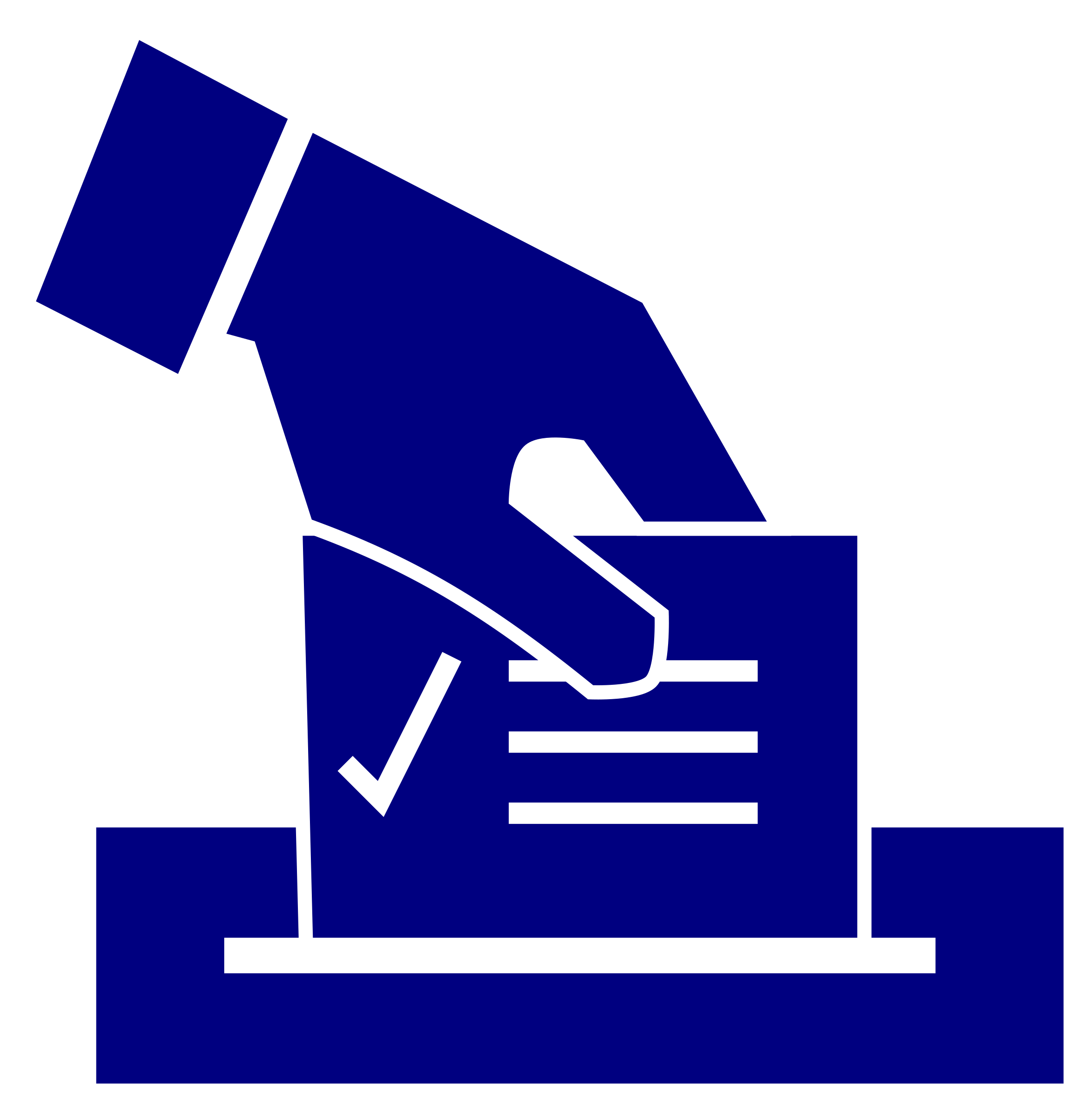Vote clipart icon blue. Ballot transparent png stickpng