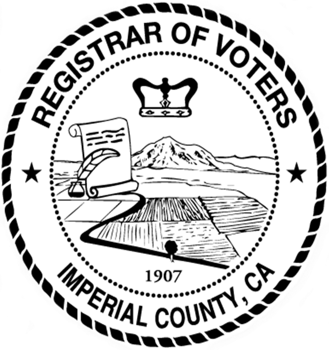 Vote drawing. Imperial county registrar of