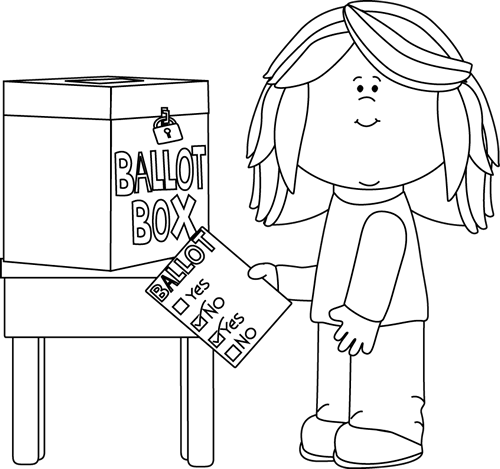 Vote drawing black and white. Voting clip art images