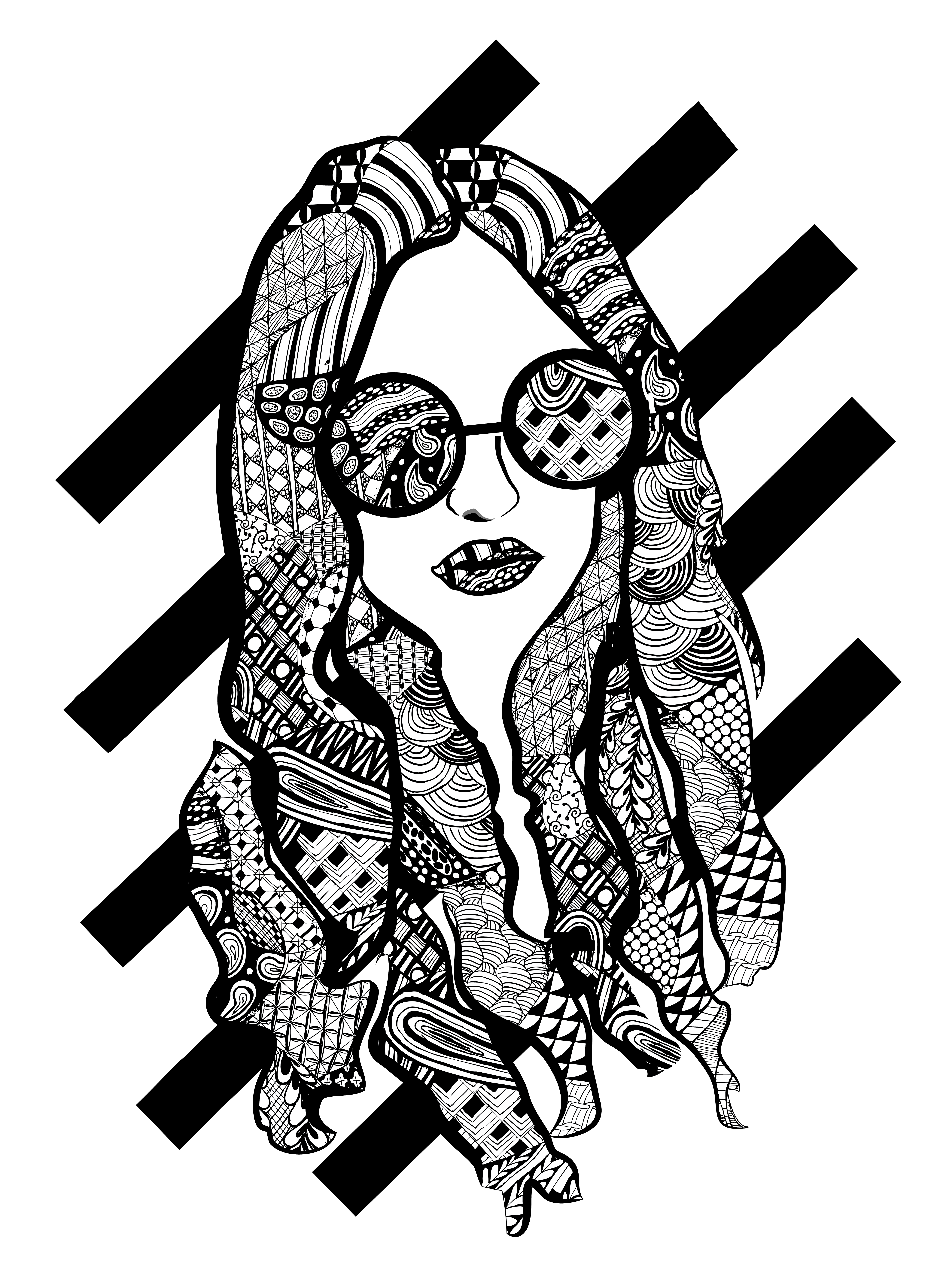 Vote drawing black and white. For me the visual