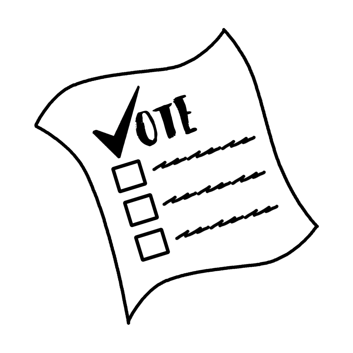 Voting drawing black tuesday. Public sector employees to