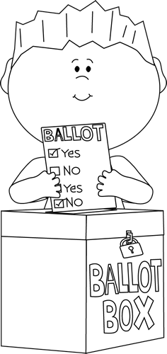 Vote drawing clip art. Voting black and white