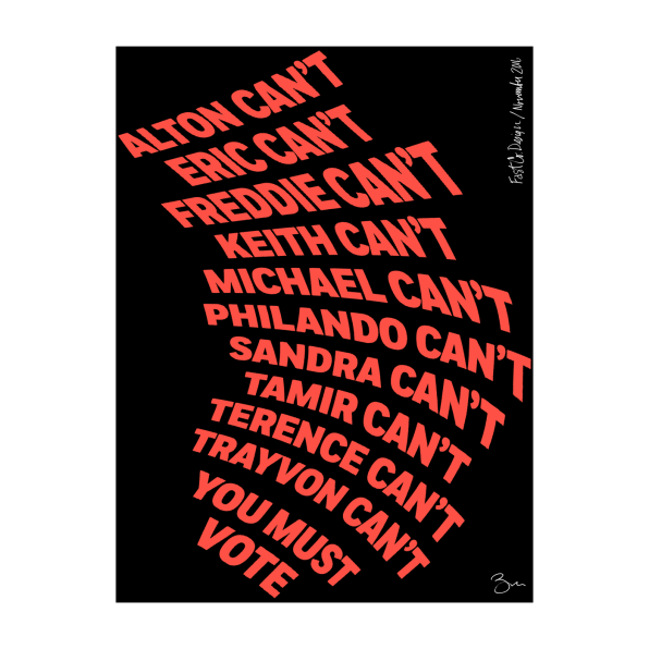 Vote drawing election poster. We asked designers to