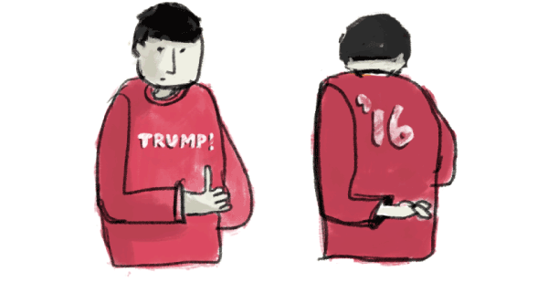 Vote drawing politics. How votes for trump