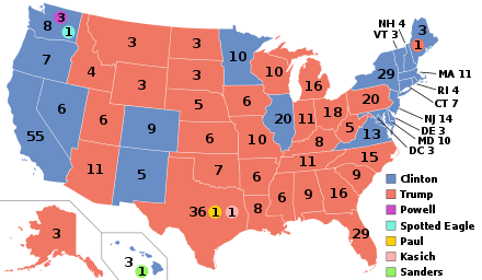 United States. Electoral college wikipedia map