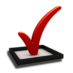 Transparent check ballot. Your voting and elections