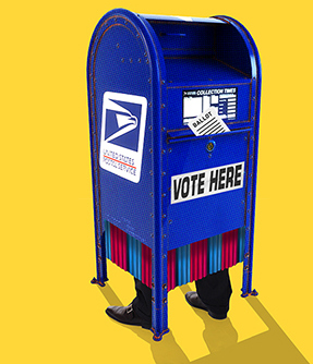 Voting clipart absentee ballot. Vote by mail voter
