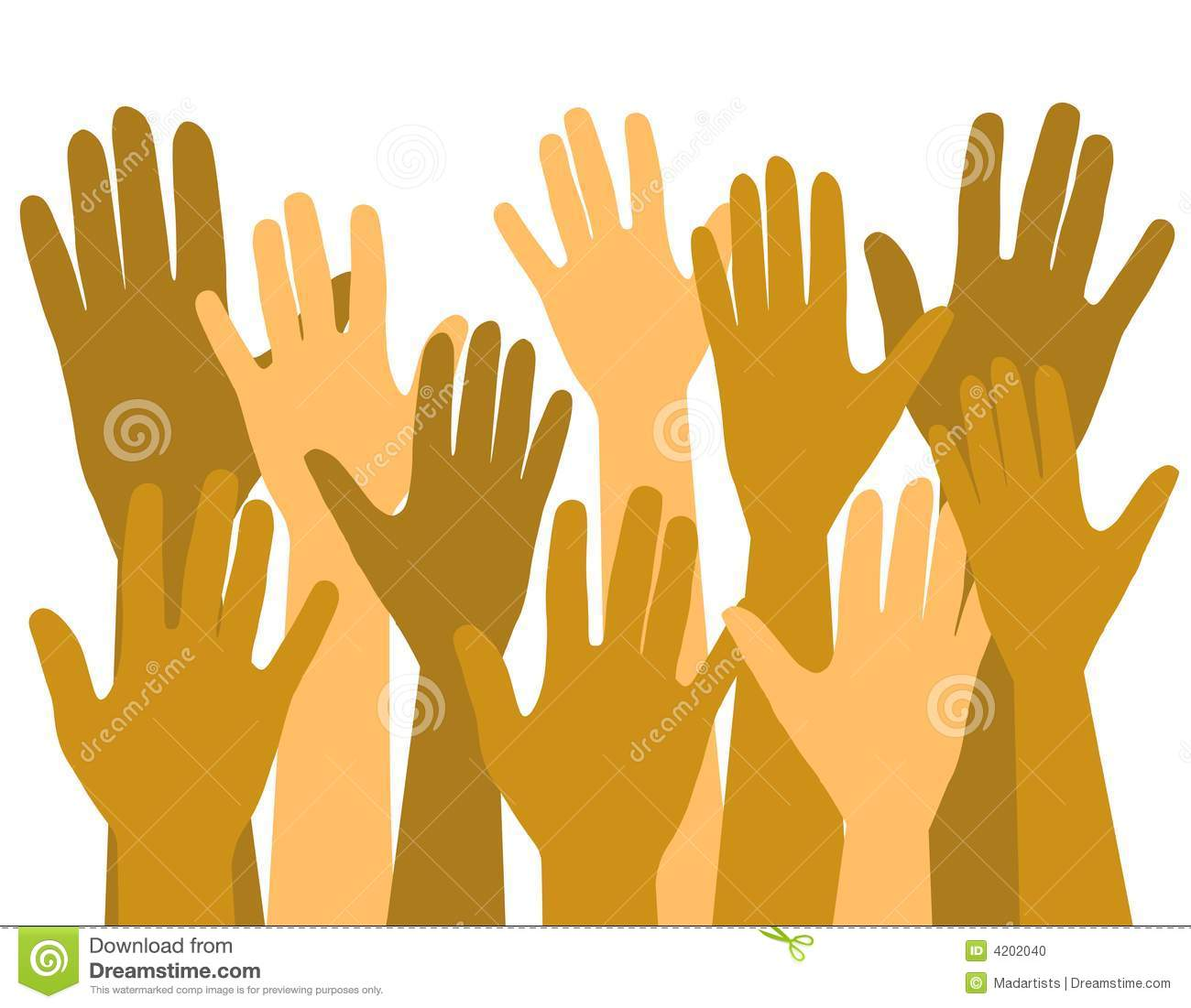 Voting clipart hand. Hands up in the