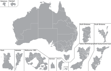 Voting drawing federal. Divisions of the australian
