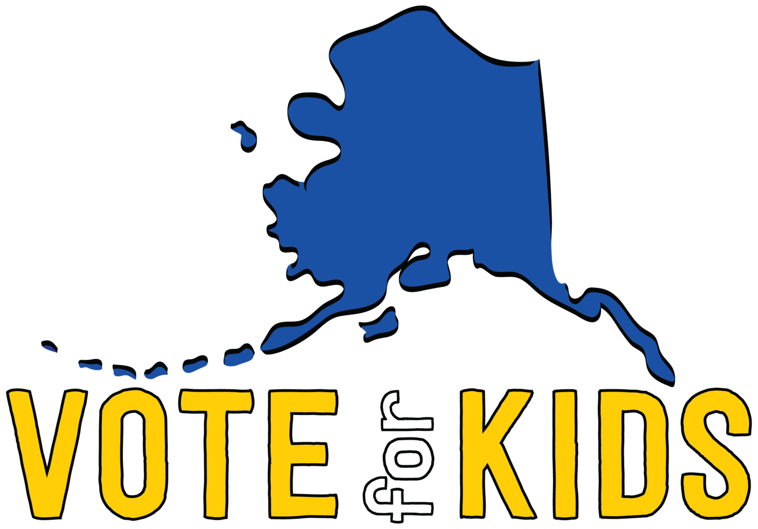 Voting drawing poster. Vote for kids ak