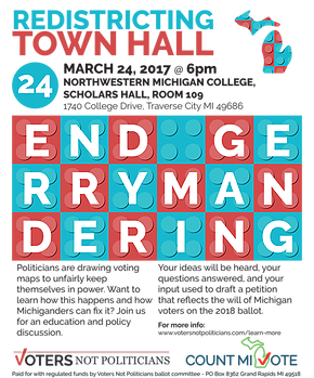 Voting drawing poster. Gerrymandering a threat to