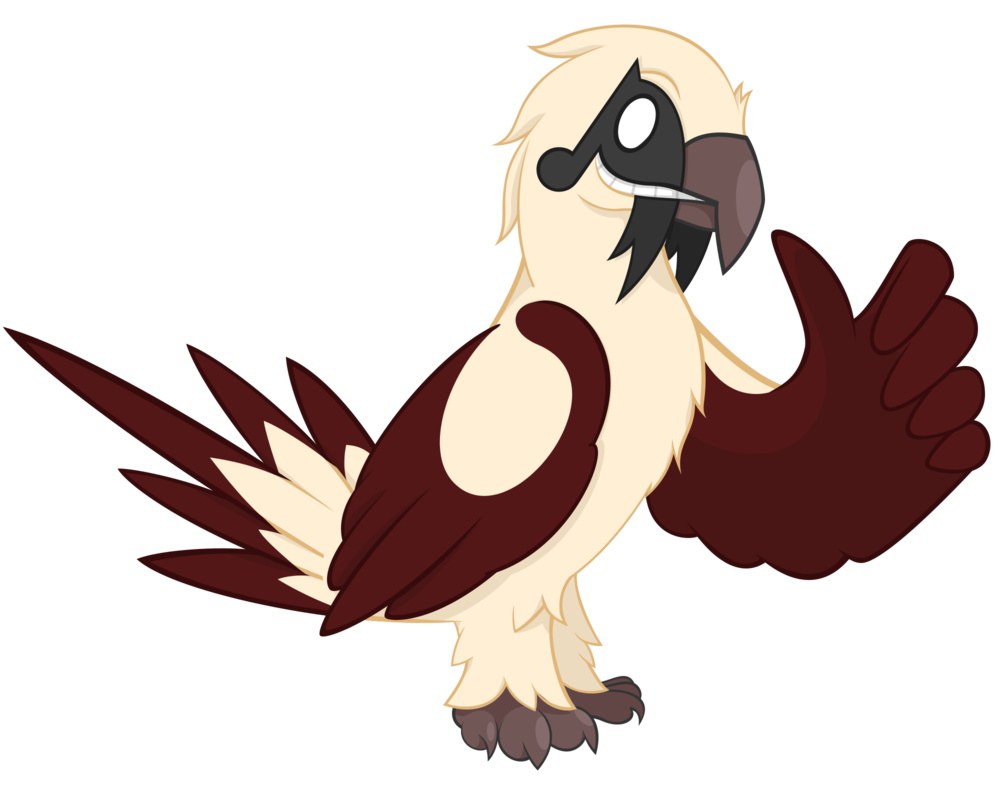Vulture vector logo. Bearded character design by