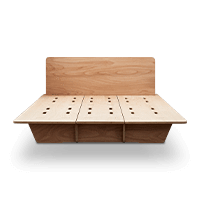 W clip bed. Koala timber base