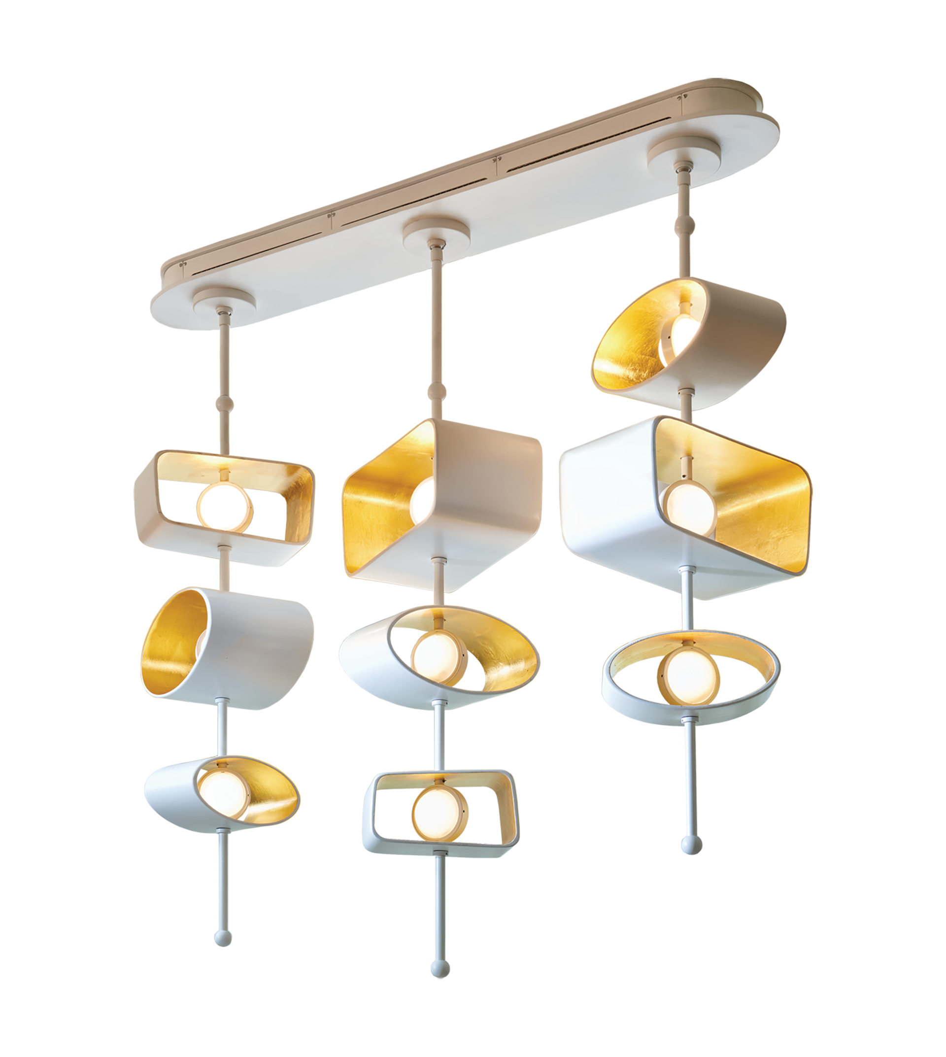 W clip ceiling. Totem linear pendant transitional