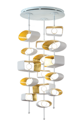 W clip ceiling. Totem round pendant transitional