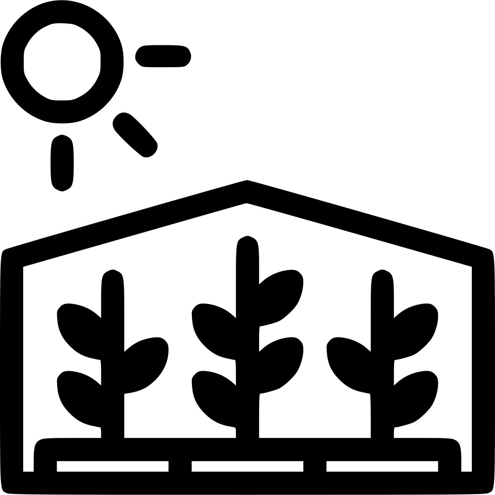 W clip greenhouse. Svg png icon free
