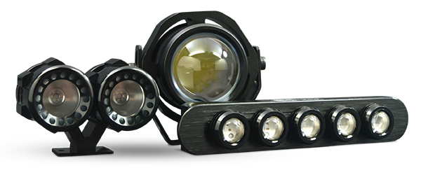 W clip headlamp. Motocycle stage ii dual