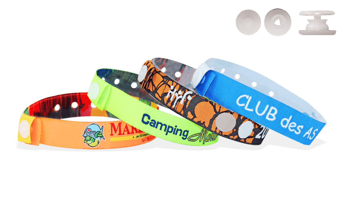 W clip plastic. Woven wristbands with slim
