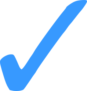 W transparent blue. Check mark png clip