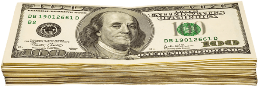 Dollar transparent wad. Of dollars png free