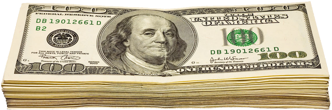 Dollar transparent wad. Of dollars png picture