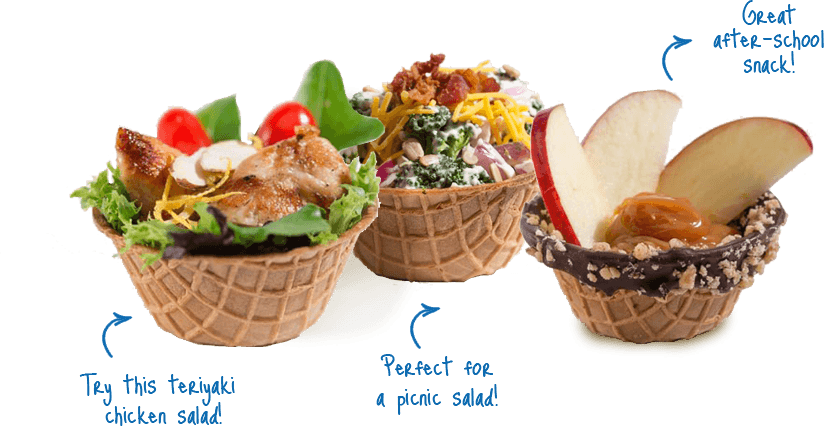 Waffle bowl png. Recipes joy cone inventions