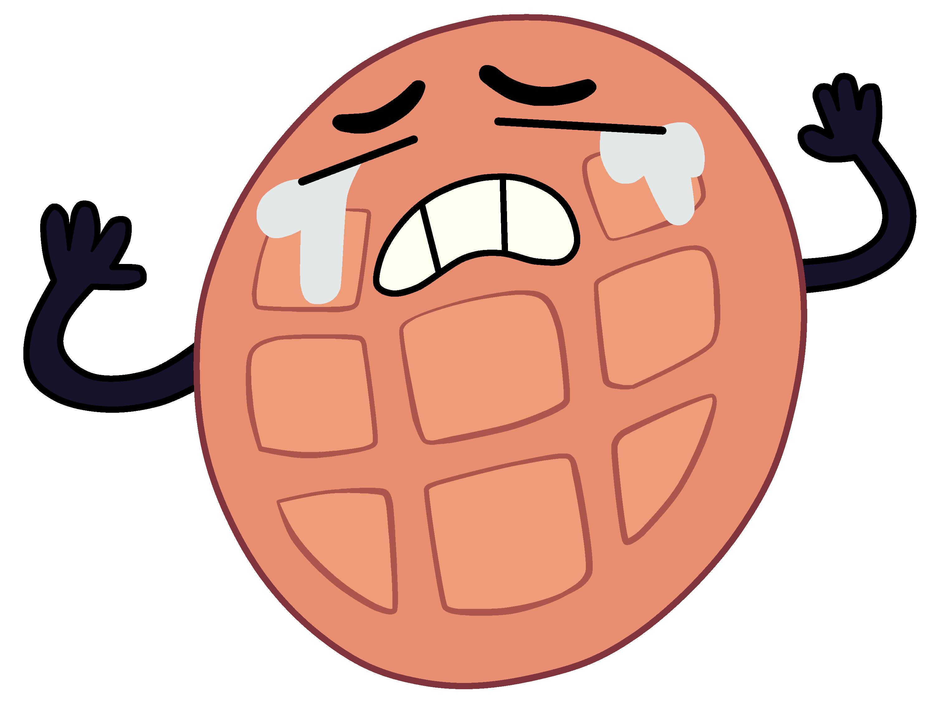 Waffle cartoon png. Image crying steven universe