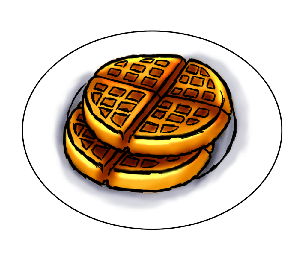 Waffle clipart vector. Clip art download library