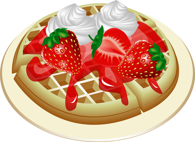 Waffle clip art library. Waffles transparent clipart svg freeuse