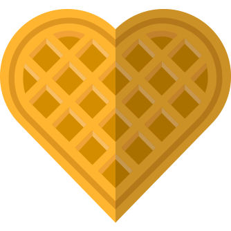 Clip art arts for. Waffle clipart heart shaped waffle graphic transparent library