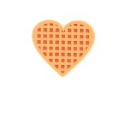Waffle clipart heart shaped waffle. Friends don t lie