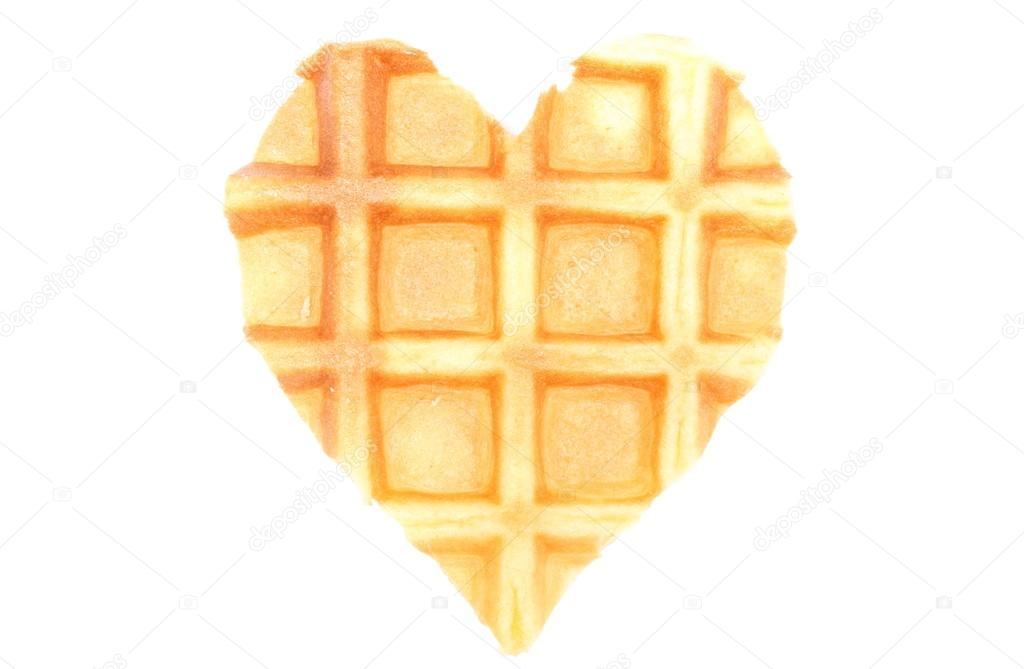 Waffle clipart heart shaped waffle. Waffles isolated on white