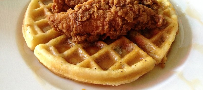 Waffle clipart plate. Off the beaten chicken
